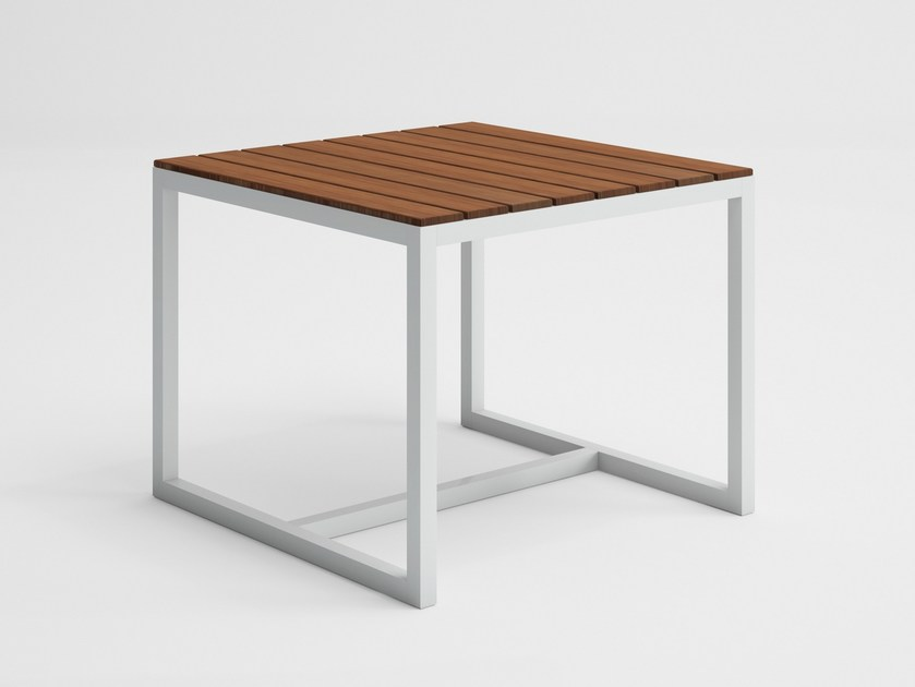Square teak garden table SALER SOFT TEAK | Square table by GANDIA BLASCO