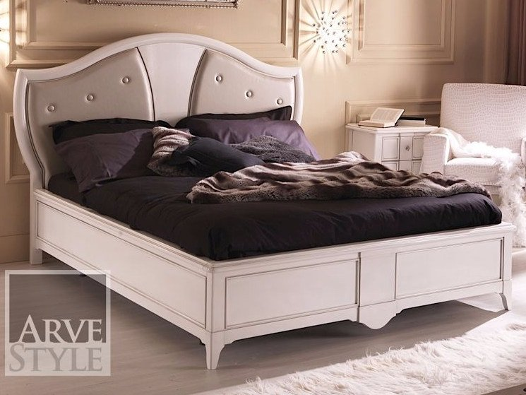 Double bed with upholstered headboard SALIERI | Bed with upholstered headboard by Arvestyle