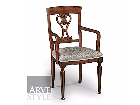 Upholstered open back chair SALIERI | Chair with armrests by Arvestyle