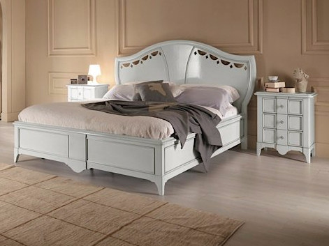 Lacquered double bed SALIERI | Lacquered bed by Arvestyle