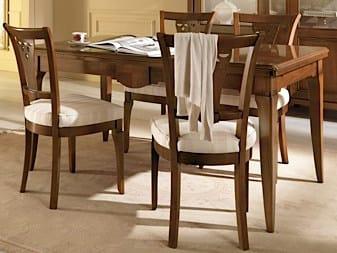 Sedia imbottita con schienale aperto SALIERI | Sedia in legno by Arvestyle