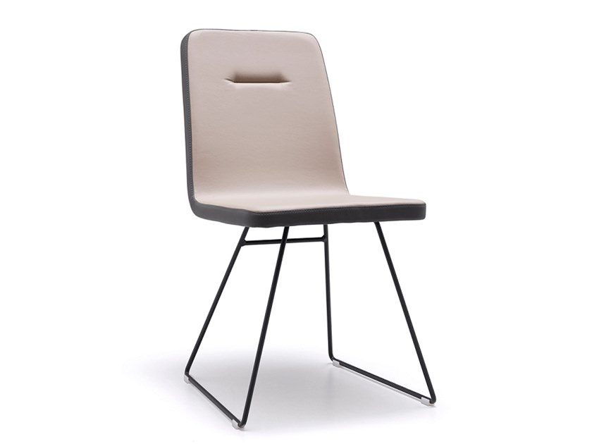 Sled base upholstered chair SALLY   Sled base chair by Natisa