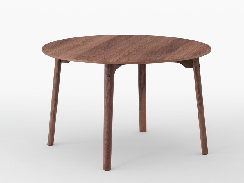 Round wooden dining table SALLY | Walnut table by MEETEE