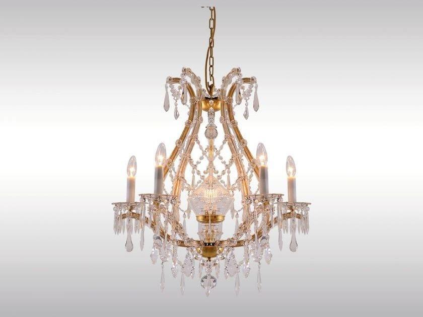 Lampadario in ferro e vetro in stile classico SALON LUSTER by Woka Lamps Vienna