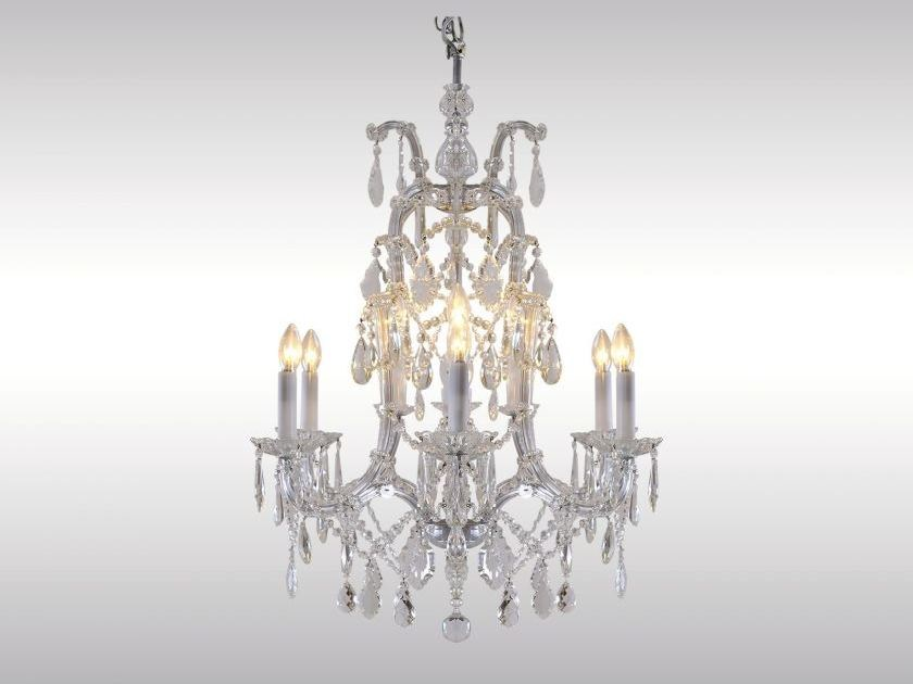 Classic style crystal chandelier SALON LUSTER 1910 by Woka Lamps Vienna