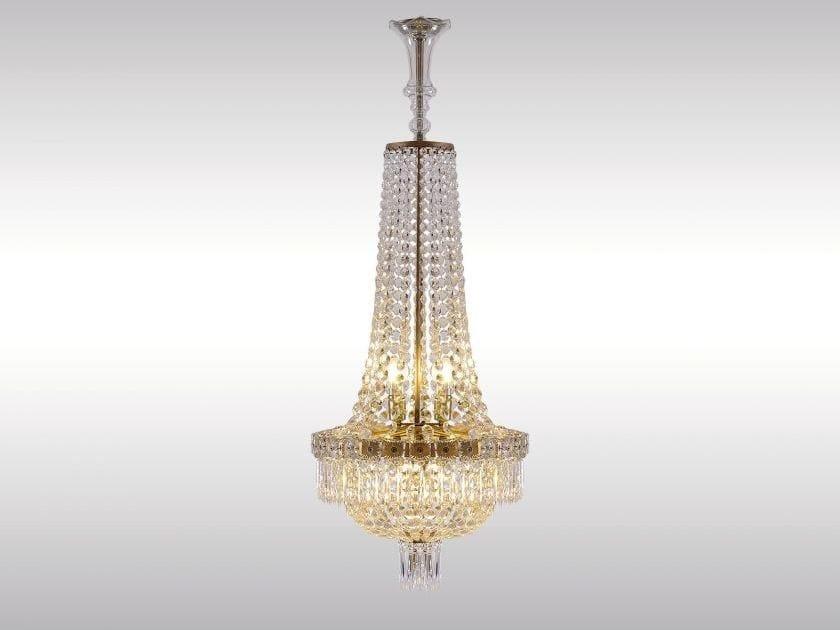 Classic style crystal chandelier SALONLUSTER IM EMPIRE-STIL by Woka Lamps Vienna