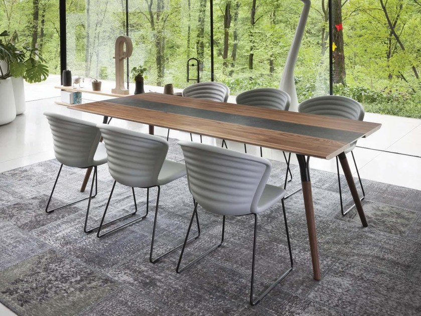 Rectangular wooden table SALT & PEPPER 828 by Tonon
