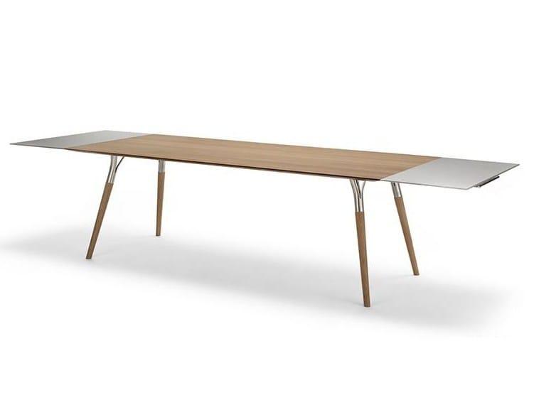 Rectangular wooden table SALT & PEPPER 843 | Rectangular table by Tonon