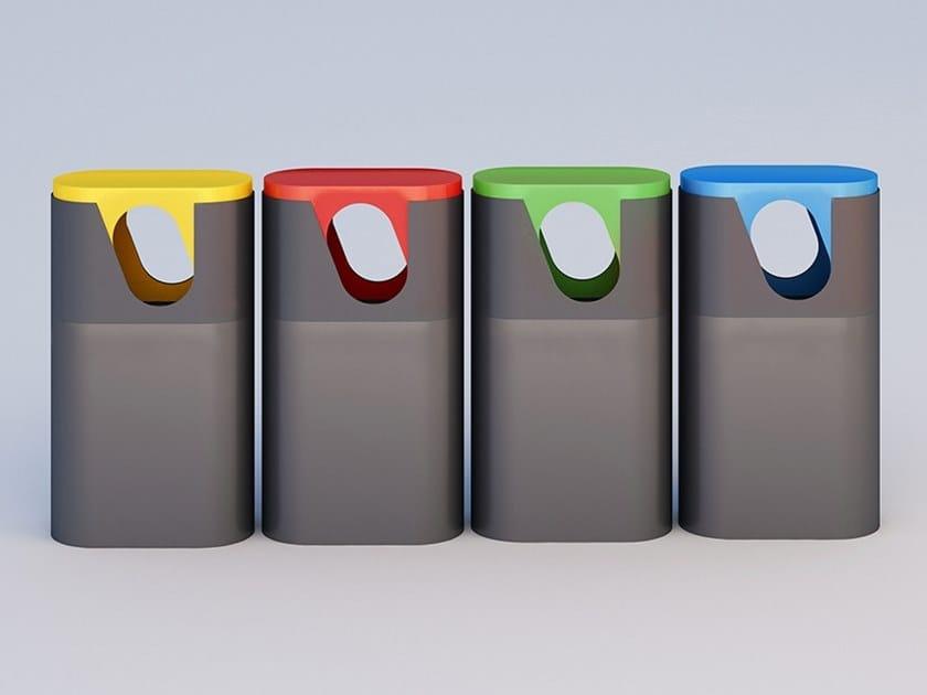 Metal litter bin for waste sorting SAM by DIMCAR