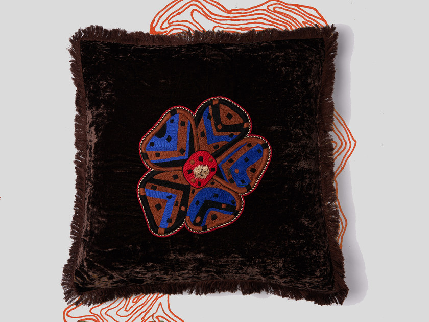 Hand embroidered cushion SAMAY by Jupe by Jackie
