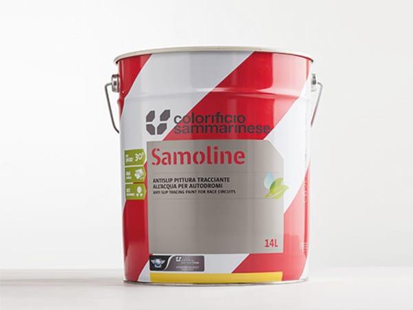 Road marking paint SAMOLINE ANTISLIP by Colorificio Sammarinese