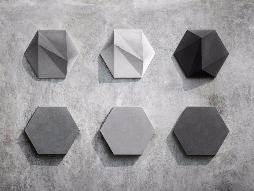 Concrete wall tiles SAN by Bentu Design