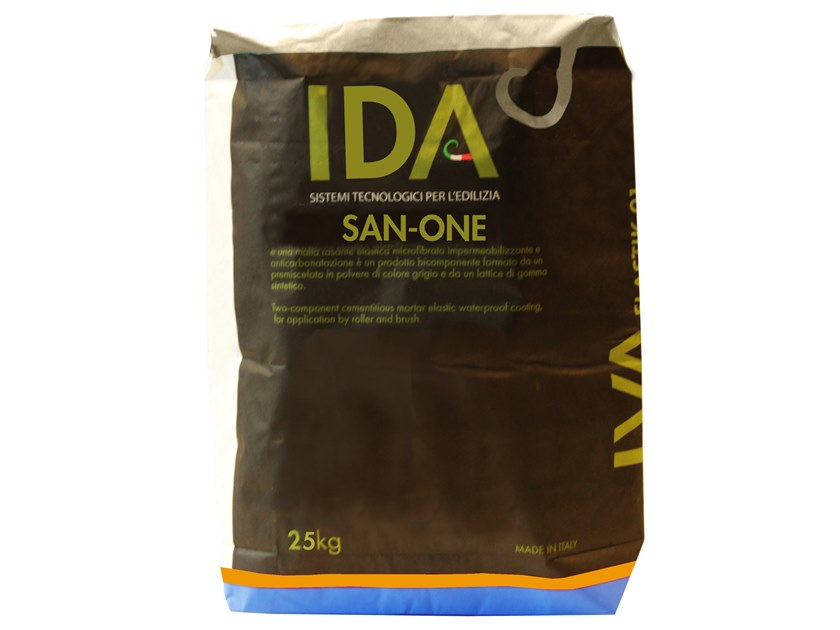 Renovating and de-humidifying additive and plaster SAN ONE by IDA
