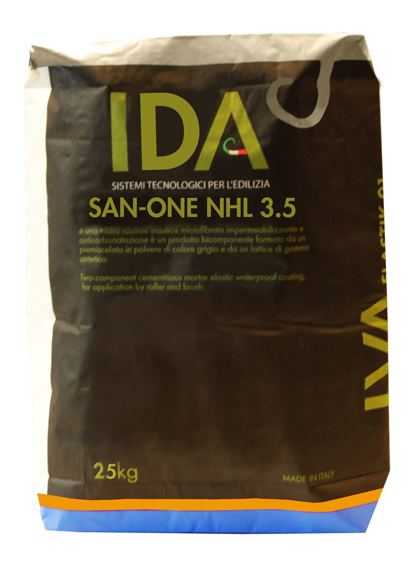 Renovating and de-humidifying additive and plaster SAN ONE NHL 3.5 by IDA