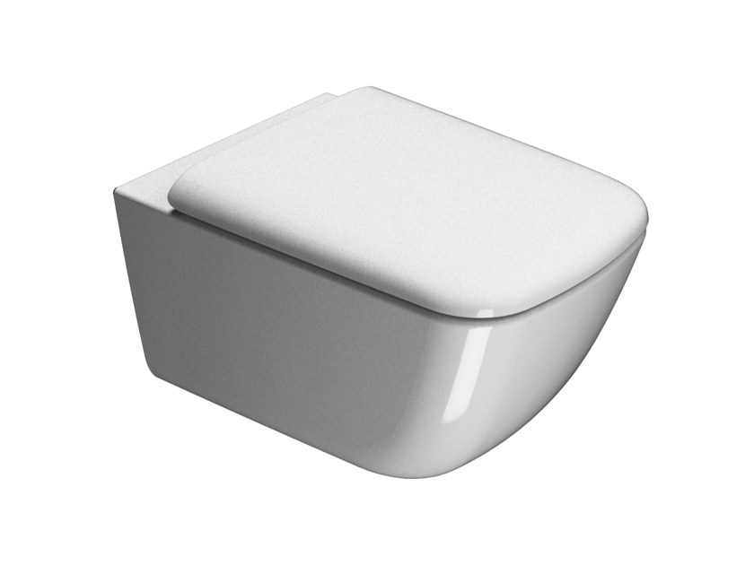 Wall-hung ceramic toilet SAND 55 | Wall-hung toilet by GSI ceramica