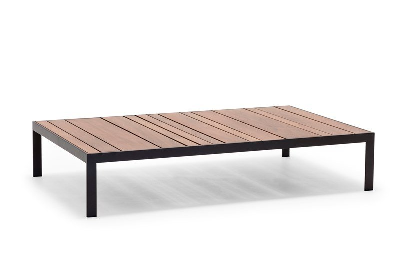 Tavolino da giardino rettangolare in teak SAND TABLE  ME4319 by Andreu World