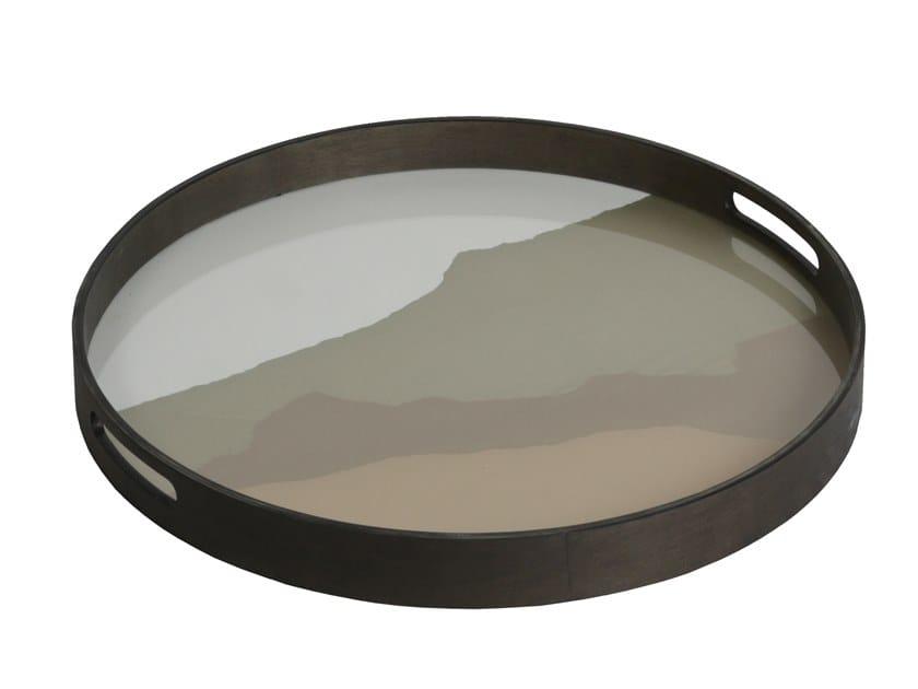 Round glass tray SAND WABI SABI | Round tray by Notre Monde