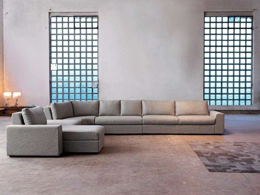 Corner fabric sofa with chaise longue SANDER   Corner sofa by Domingo Salotti