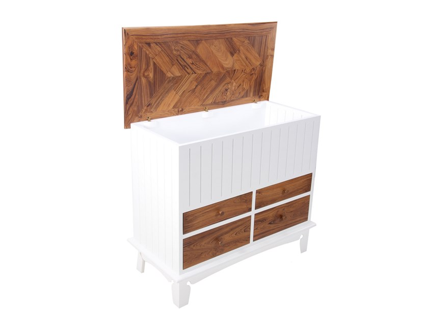 Solid wood storage chest / chest of drawers SANDOOK DARAJ | Storage chest with drawers by ALANKARAM