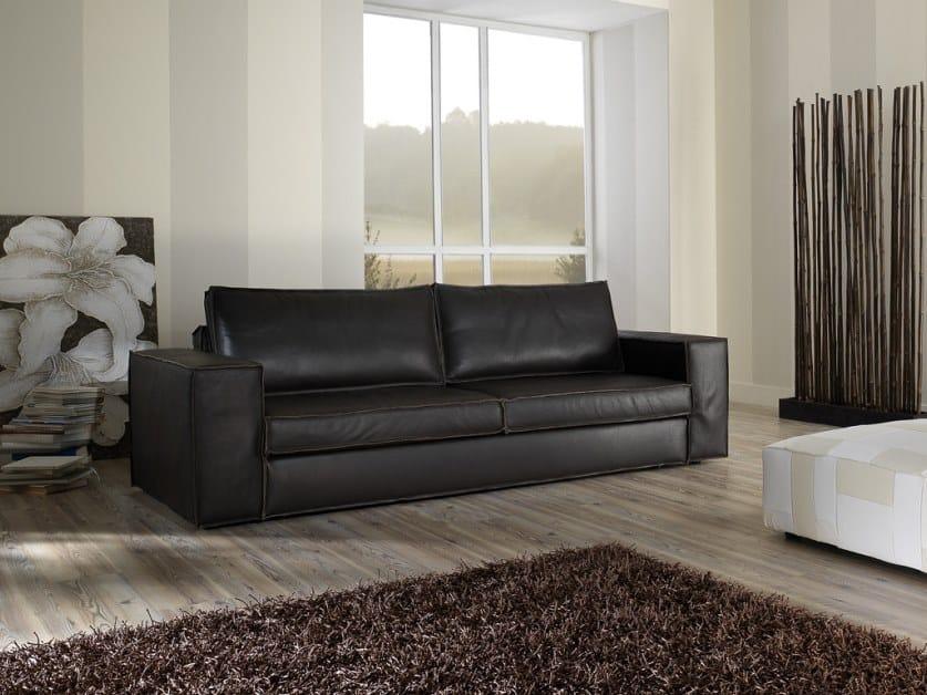 3 seater leather sofa SANDY-C | Sofa by Gobbo Salotti