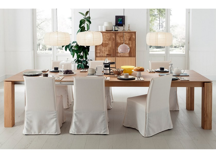 Extending solid wood dining table SANTIAGO | Extending table by AltaCorte