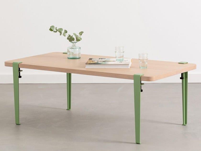 Low Steel And Wood Coffee Table Santiago By Tiptoe
