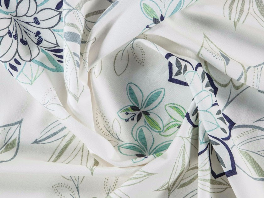 Printed cotton fabric with floral pattern for curtains SAPOTA by More Fabrics