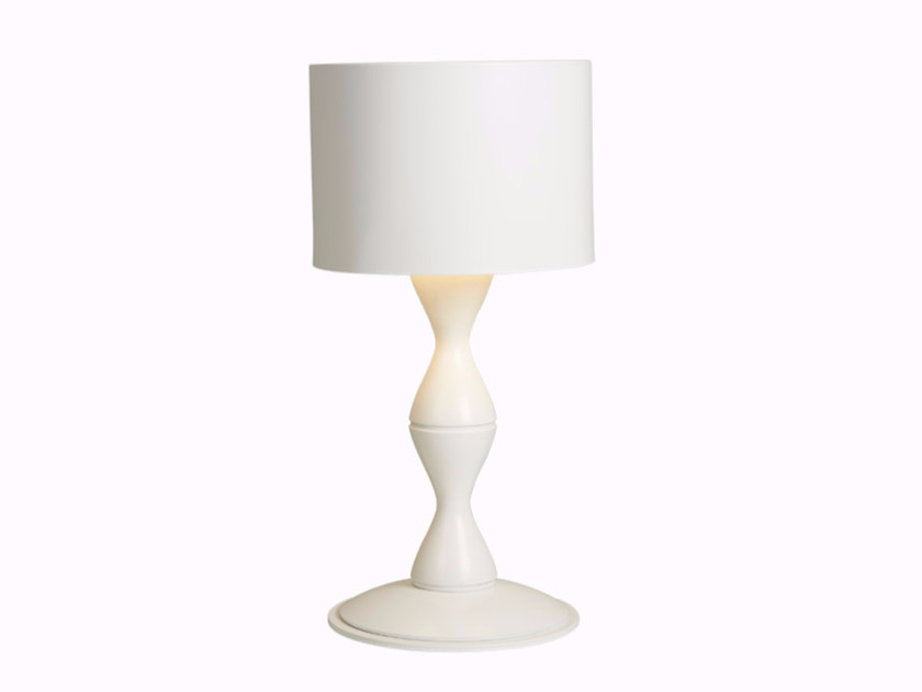 Indirect light powder coated steel table lamp SARA | Table lamp by Gibas