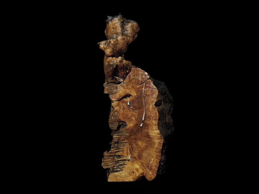 Olive briar and steel sculpture SARDINIA by Renato Bugiotti