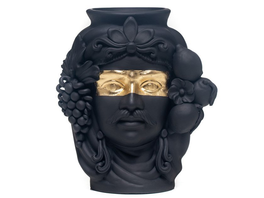Terracotta Vase Sasá Teste Collection By Stefania Boemi