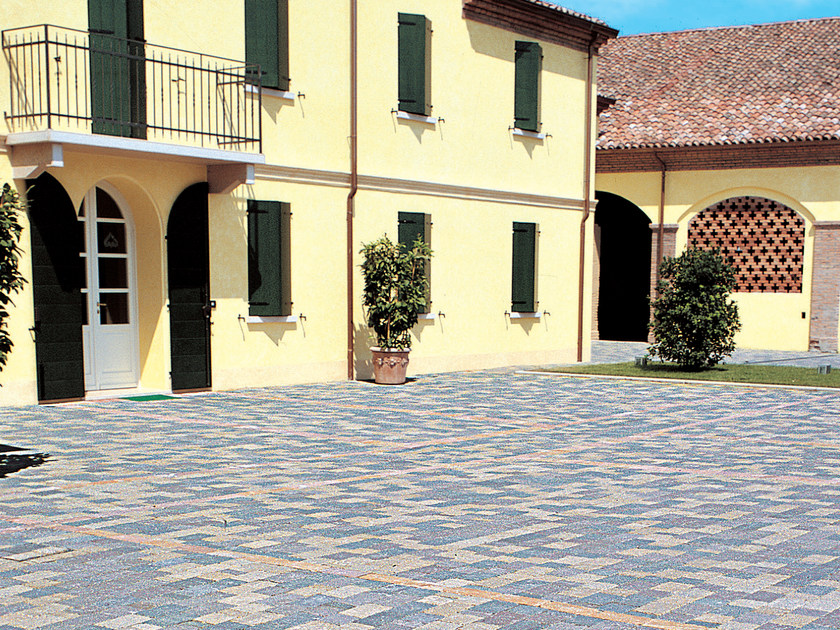 Concrete paving block SASSI COMP by RECORD - BAGATTINI