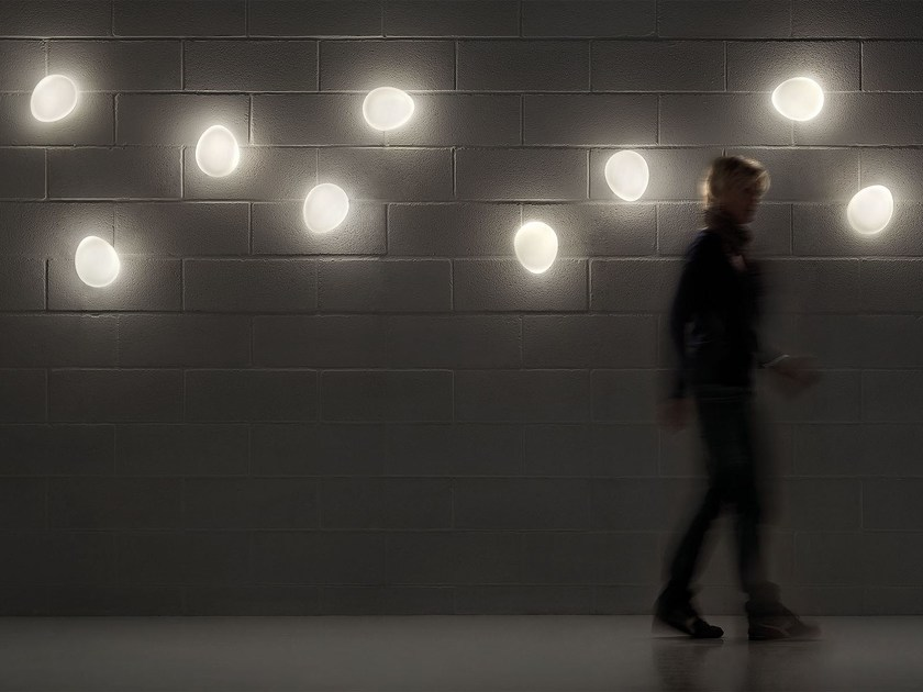 Direct light laminated glass wall light SASSO | Wall light by Masiero
