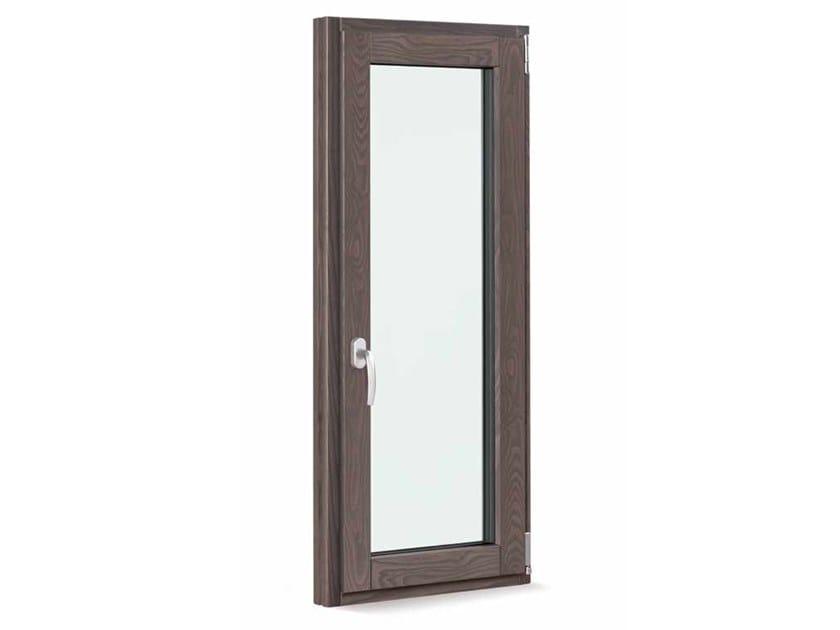 Aluminium and wood top-hung window SATIN 2.0 by FOSSATI SERRAMENTI