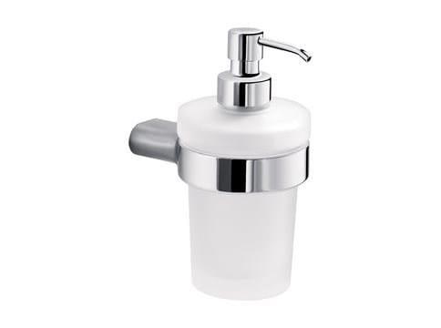 Wall-mounted satin glass liquid soap dispenser MITO | Satin glass liquid soap dispenser by INDA®