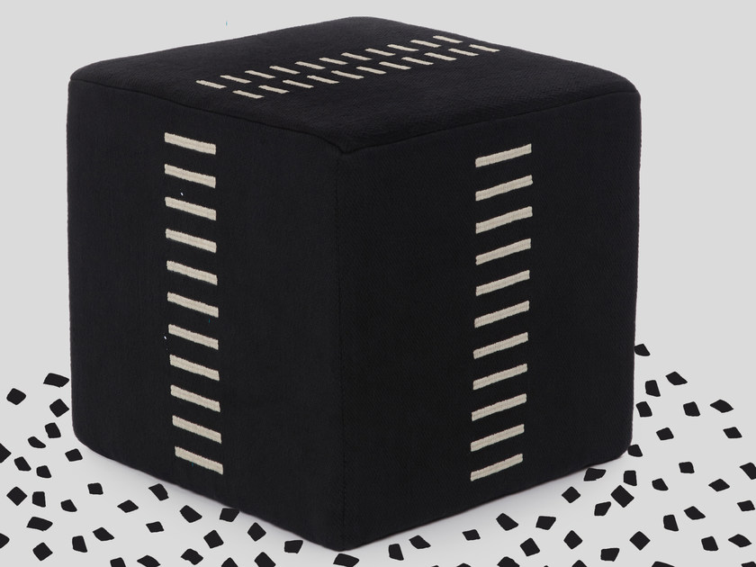 Square pouf SATIN by Jupe by Jackie