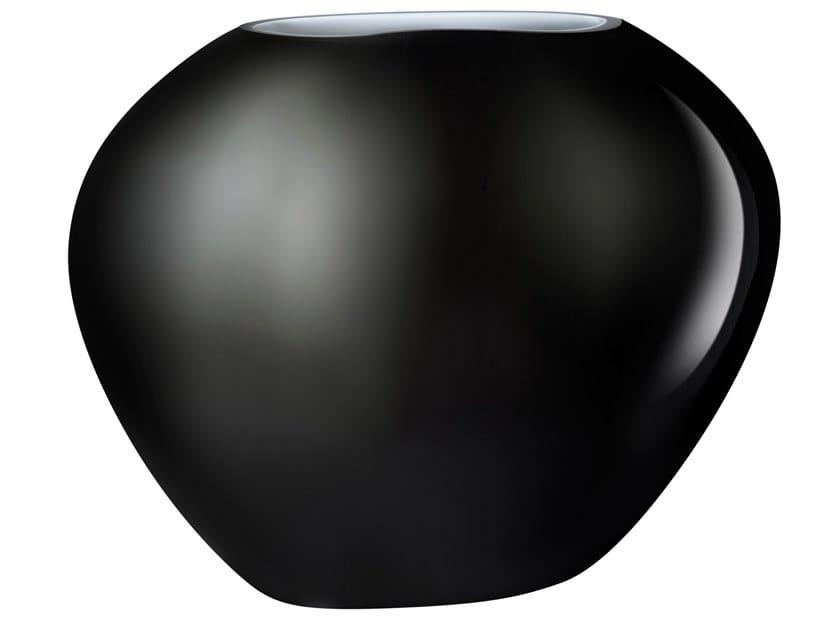 Crystal vase SATIN MEDIUM by NUDE