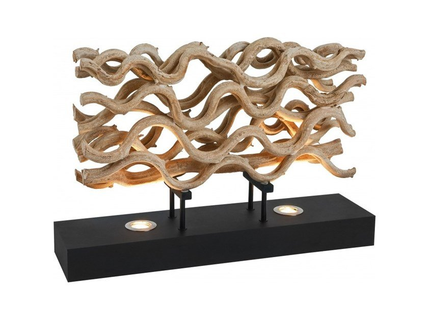 LED wooden table lamp SAVANA by Flam & Luce