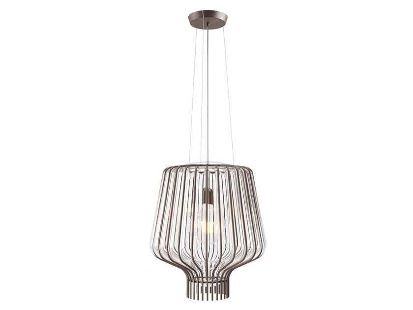Direct light glass pendant lamp SAYA F47 A09/11/21 by Fabbian