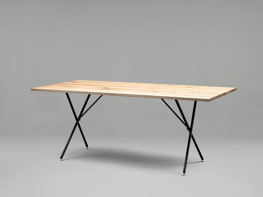Rechteckiger Tisch aus Holz SC32 | Tisch aus Holz by Janua