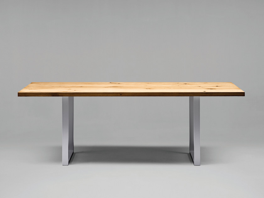 Rectangular wooden table SC25 - METALL | Wooden table by Janua