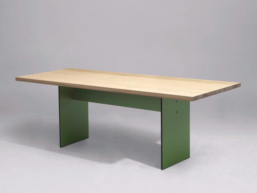 Tavolo da cucina da pranzo rettangolare in legno in stile moderno SC42 | Tavolo in legno by Janua