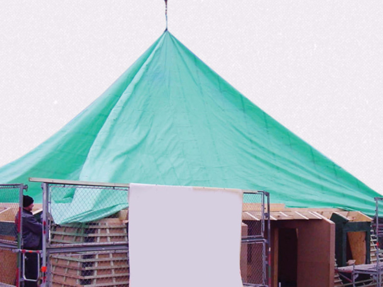 Scaffolding protection, sheet TELONE by HAROBAU