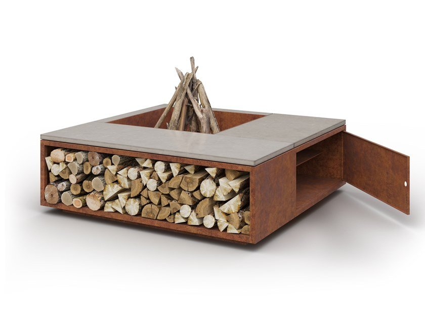 Wood Burning Outdoor Freestanding Fireplace Scale Cubbi By Laubo