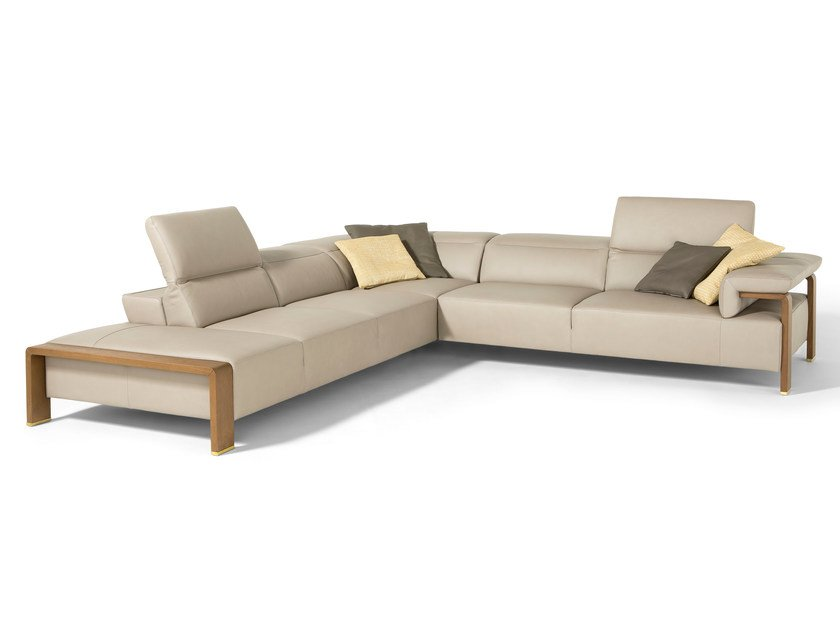 Sectional leather sofa SCARLETT | Sectional sofa by Egoitaliano
