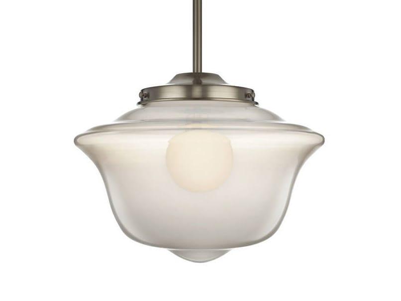 LED handmade blown glass pendant lamp SCHOOLHAUS by Niche Modern