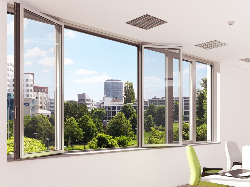 Aluminium thermal break window Schüco AWS 65 HI+ SimplySmart by Schüco