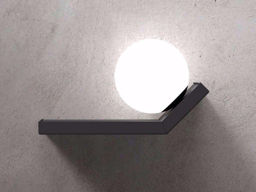 Applique in metallo e vetro soffiato scivolo by marchetti