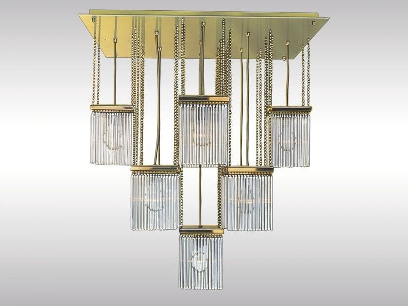 Classic style brass pendant lamp SCOTCH by Woka Lamps Vienna