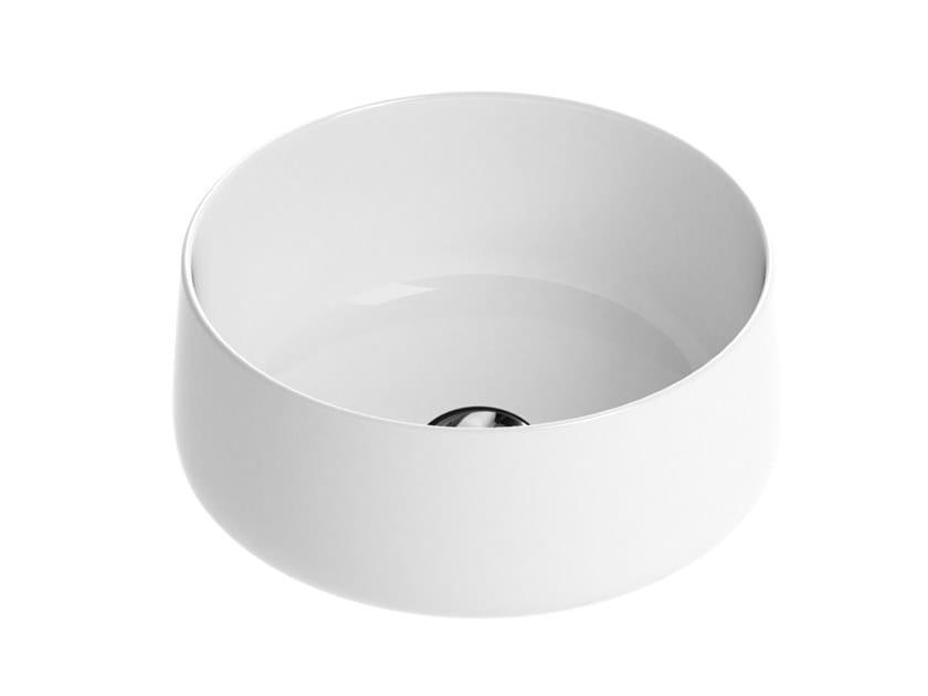 Countertop round single ceramic washbasin SCOTTIE | Washbasin by Devon&Devon