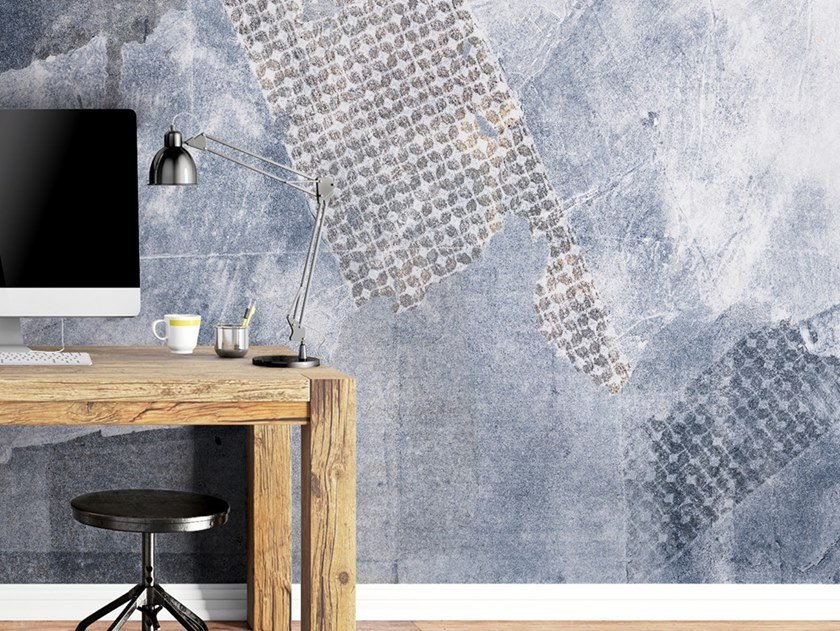 Industrial style Ecological washable PVC free wallpaper SCRAPES by Wallpepper